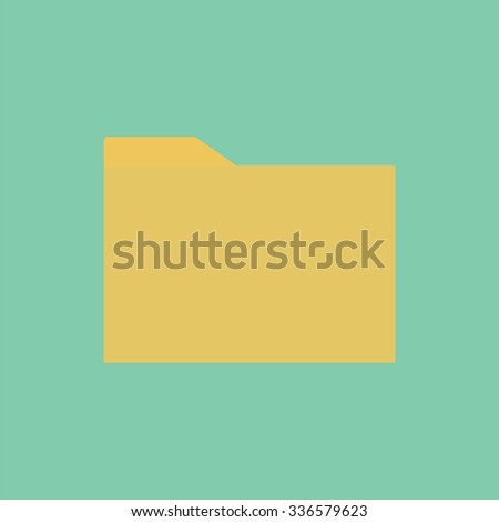 Folder icon. Computer data icon. File icon. - stock vector