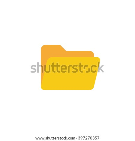 Folder Icon in trendy flat style isolated on white background, for your web site design, app, logo, UI. Vector illustration, EPS10. - stock vector