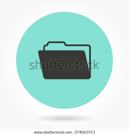 Folder   -   icons for graphic design and Internet sites. Vector illustration.  - stock vector