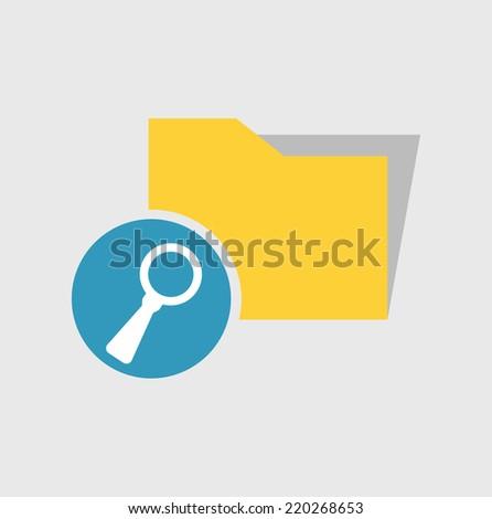 folder search icon - stock vector