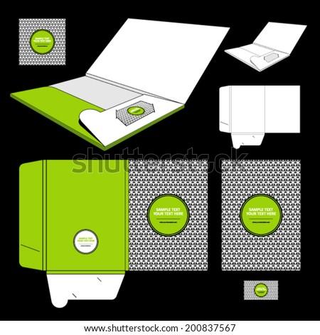 Folder template design - stock vector