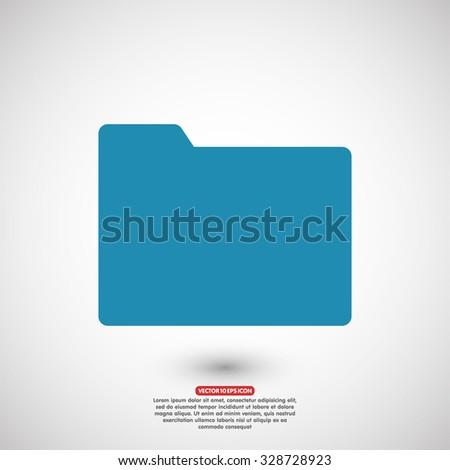 Folder vector icon - stock vector