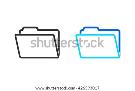 Folder    vector icon. Illustration isolated for graphic and web design. - stock vector
