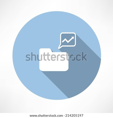 folder with diagram icon  - stock vector