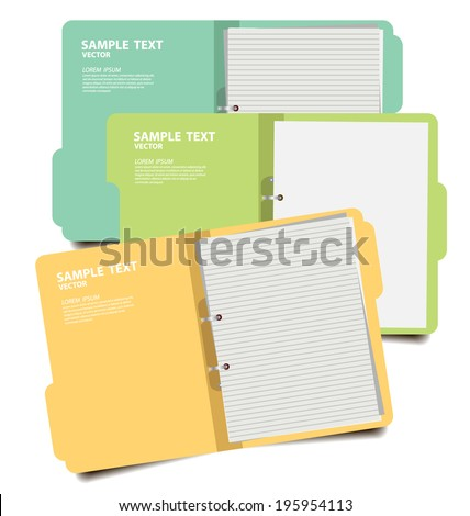 folder with documents vector illustration - stock vector