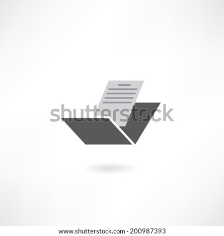 folder with file icon - stock vector
