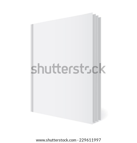 Folder with papers, journal template, mock-up - stock vector
