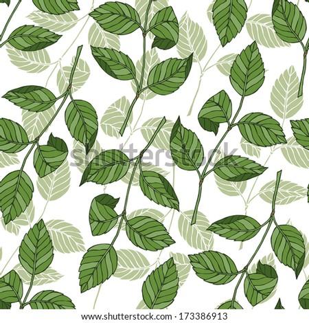 Foliage pattern - stock vector