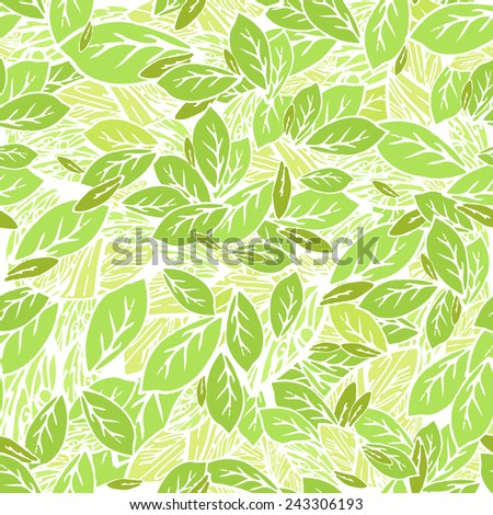 Foliage Seamless pattern background - stock vector
