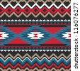 Folk ornamental textile seamless pattern - stock vector