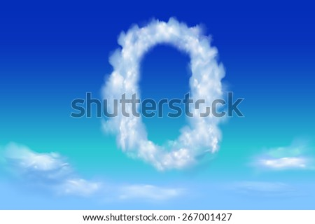 Font from the clouds concept.0 - stock vector