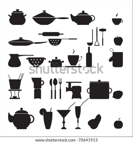 Food and drink icons - stock vector