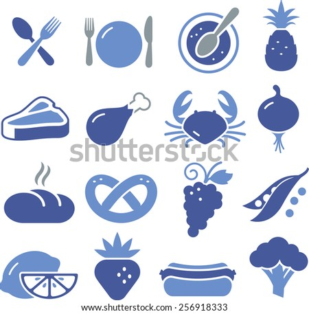 Food and restaurant icons.  - stock vector