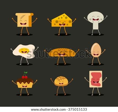 food character design  - stock vector