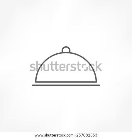 food cover icon - stock vector