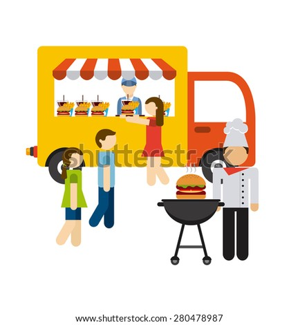 food delivery design, vector illustration eps10 graphic  - stock vector
