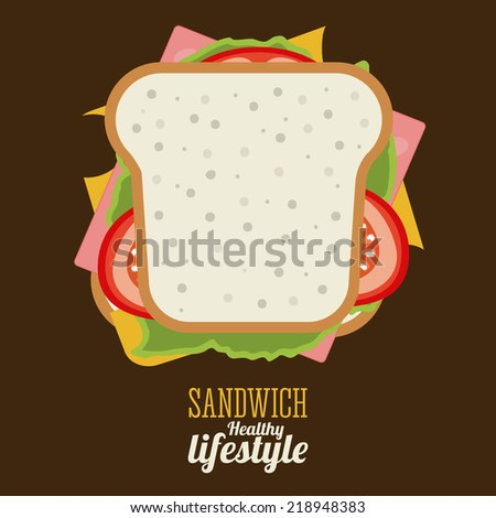 Food design over brown background, vector illustration - stock vector