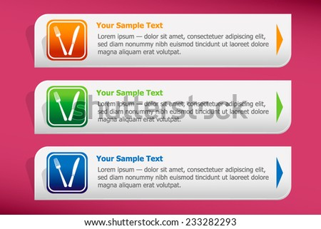 Food icon and design template vector. Graphic or website. - stock vector