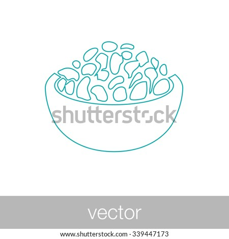food icon. Concept flat style design illustration icon. - stock vector
