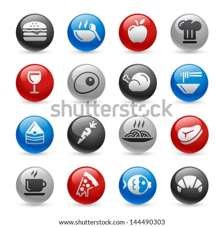 Food Icons - Set 1 // Gel Pro Series - stock vector