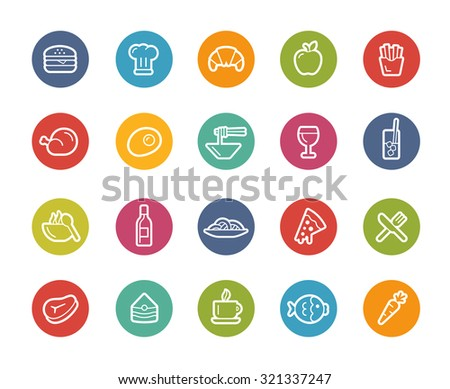 Food Icons - Set 1 of 2 // Printemps Series - stock vector