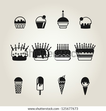 food icons set. vector illustration - stock vector