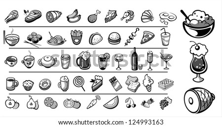 food icons vector collection - stock vector