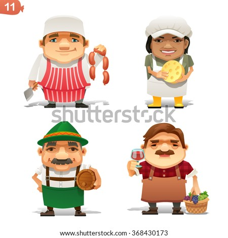 Food Industry professions - stock vector