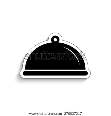 Food platter serving sign - vector icon - stock vector