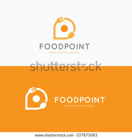Food point, food and restaurant logo,vector logo template - stock vector