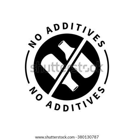 Food product badge - No additives - stock vector