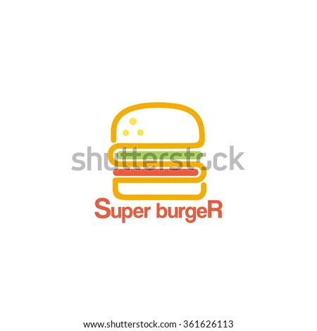 Food service vector logo. fast food restaurant. design template - stock vector