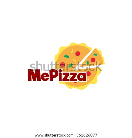 Food service vector logo.pizza restaurant logo. design template - stock vector