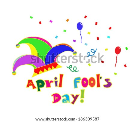 Fool's day. Celebrating April Fools' Day. - stock vector