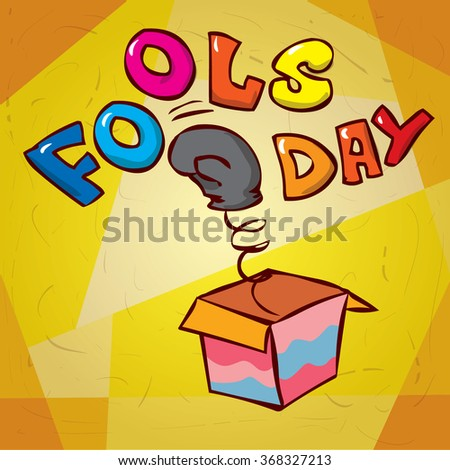 Fools day. Hand drawn cartoon vector illustration - stock vector