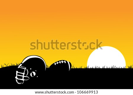 foot ball in the rest - stock vector