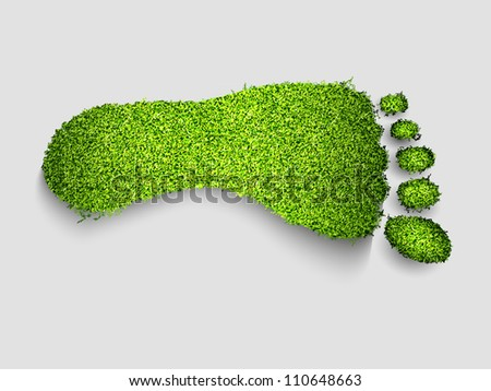 foot green grass - stock vector