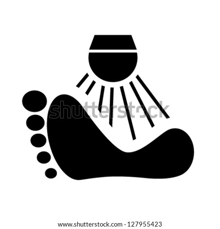 Foot Wash sign vector - stock vector