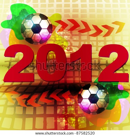 Football 2012 - stock vector