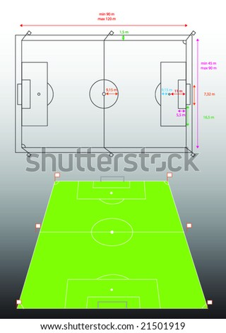 football area - stock vector