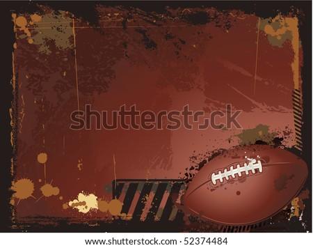 Football background - stock vector