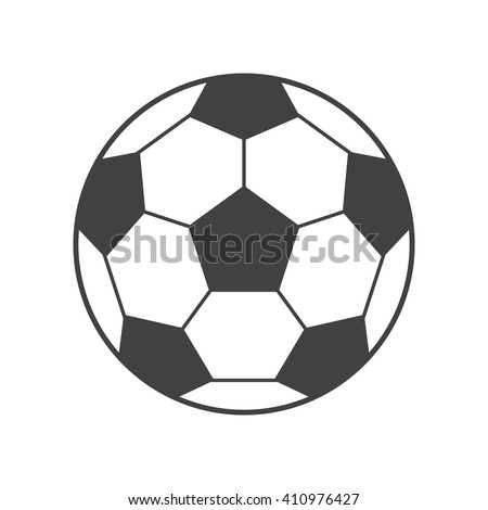 football ball Icon Vector Illustration on the white background. - stock vector