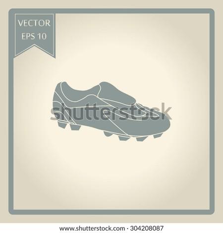 Football boots - vector illustration - stock vector