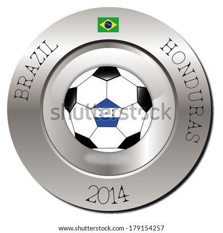 football brazil 2014 - stock vector