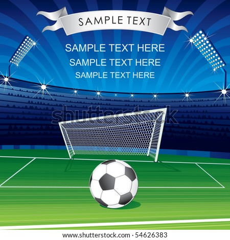 Football Champions League theme- vector poster for your text or design-MORE SIMILAR SOCCER BACKGROUNDS SEE AT MY GALLERY - stock vector