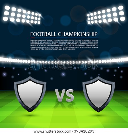 Football championship cover, Cover match background, Vector ilustration - stock vector