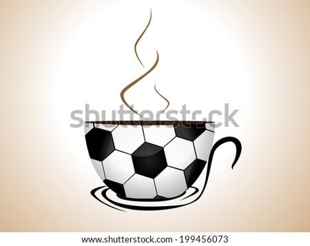 football coffee - stock vector