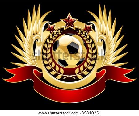 football emblem - stock vector