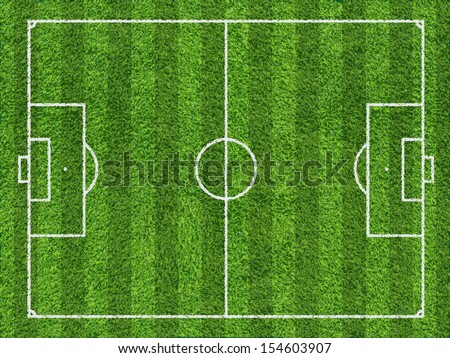 Football field - stock vector