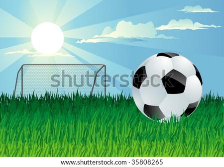 football field - stock vector